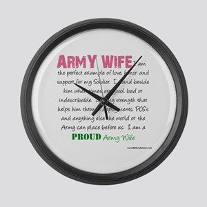 I Am...an Army Wife Large Wall Clock