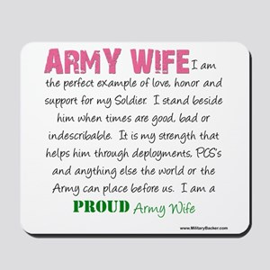 I Am...an Army Wife Mousepad