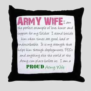 I Am...an Army Wife Throw Pillow