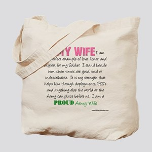 I Am...an Army Wife Tote Bag