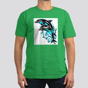 Jumping Dolphins Sea Life Men's Fitted T-Shirt (da