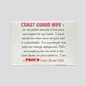 I Am...a Coast Guard Wife Rectangle Magnet