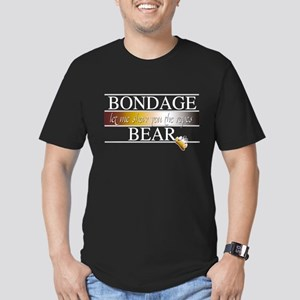 Bondage Bear Men's Fitted T-Shirt (dark)