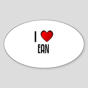 I LOVE EAN Oval Sticker