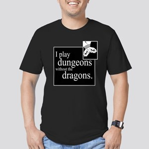 Dungeons Without Dragons Men's Fitted T-Shirt (dar