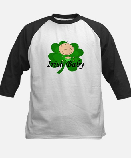 Irish Baby Shamrock Kids Baseball Jersey