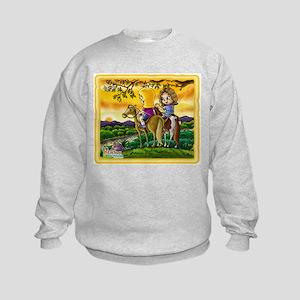 Horseback Riding Kids Sweatshirt