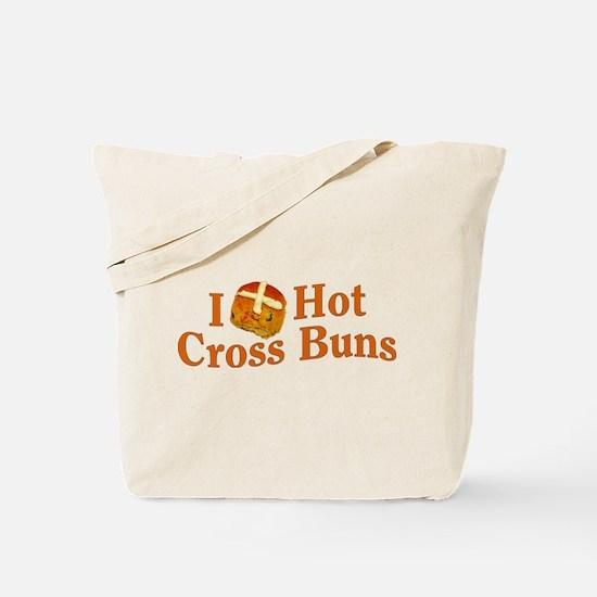 I Love Hot Cross Buns Tote Bag