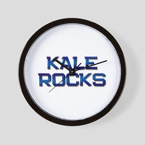 kale rocks Wall Clock