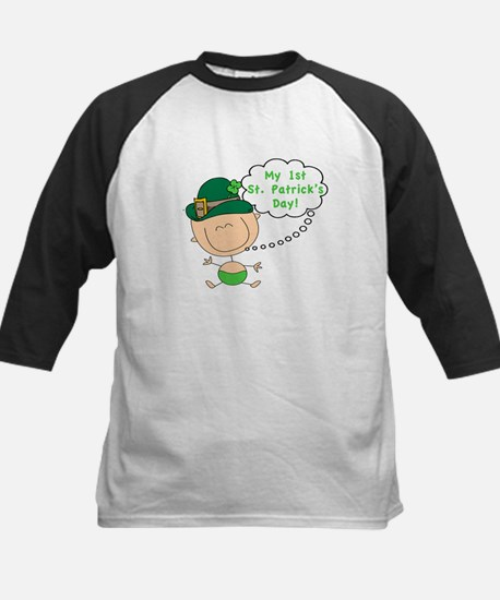 First St. Patty's Day Baby Kids Baseball Jersey