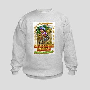 Mountain Biking Kids Sweatshirt