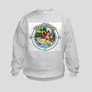 White Water Rafting Kids Sweatshirt
