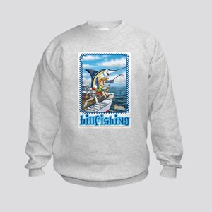 Jacob's Fishing Adventure Kids Sweatshirt