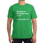 MacArthur Quitting Quote Men's Fitted T-Shirt (dar