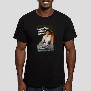 Be A Nurse Men's Fitted T-Shirt (dark)