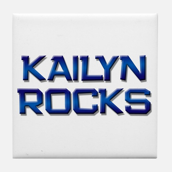 kailyn rocks Tile Coaster