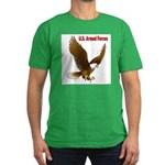 U.S. Armed Forces Eagle Men's Fitted T-Shirt (dark