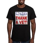 Thank a Veteran Men's Fitted T-Shirt (dark)