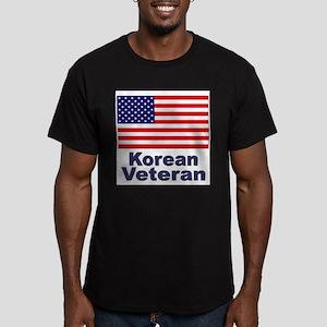 Korean Veteran (Front) Men's Fitted T-Shirt (dark)