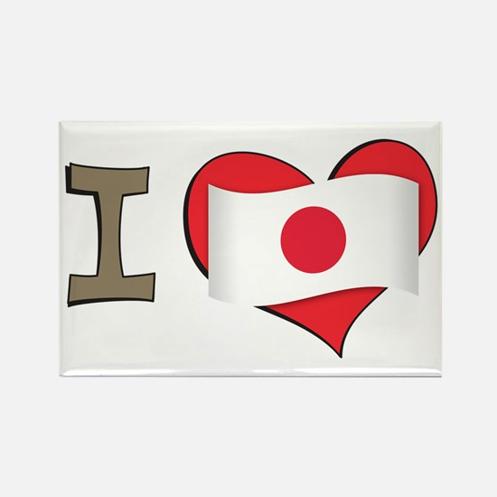 I heart Japan Rectangle Magnet