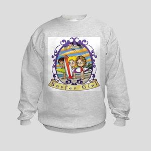 Fiaba and Friends Surfer Girl Kids Sweatshirt