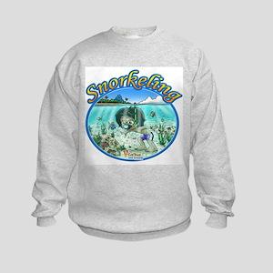 Fiaba and Friends Jose Snorkeling Kids Sweatshirt