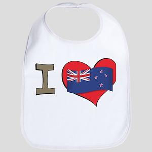 I heart New Zealand Bib
