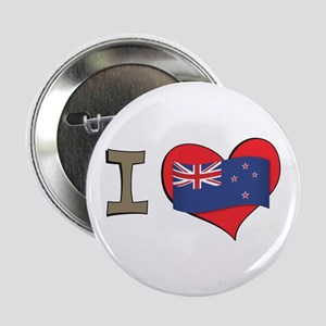 "I heart New Zealand 2.25"" Button"