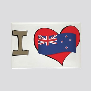 I heart New Zealand Rectangle Magnet