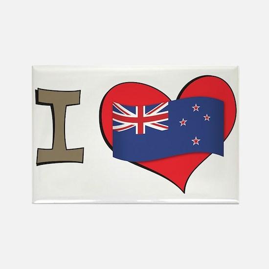 I heart New Zealand Rectangle Magnet