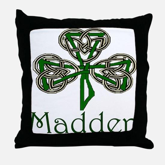Madden Shamrock Throw Pillow
