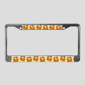 Hot Cross Buns License Plate Frame