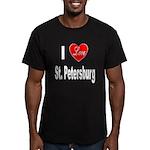 I Love St. Petersburg Men's Fitted T-Shirt (dark)