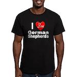 I Love German Shepherds Men's Fitted T-Shirt (dark