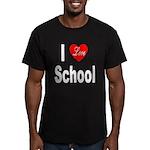 I Love School Men's Fitted T-Shirt (dark)