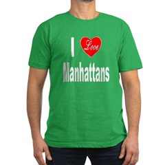 I Love Manhattans Men's Fitted T-Shirt (dark)