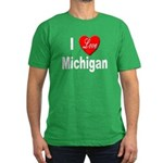 I Love Michigan Men's Fitted T-Shirt (dark)