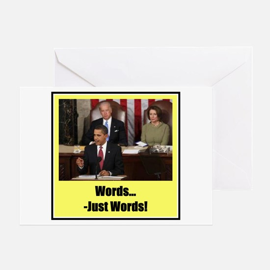 """""""Just Words"""" Greeting Card"""