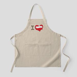 I heart Poland BBQ Apron