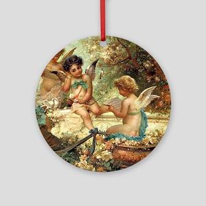 Victorian Angels by Zatzka Ornament (Round)