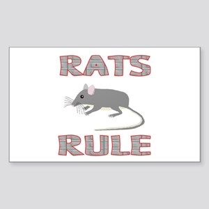 Rat Rectangle Sticker