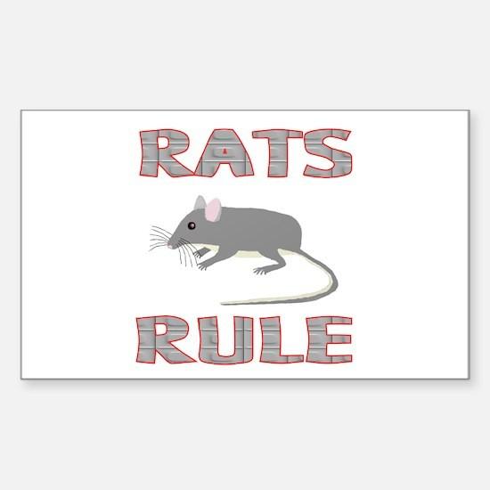 Rat Rectangle Decal