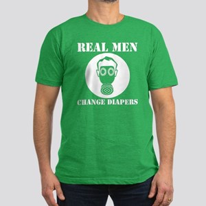 Real Men Change Diapers Men's Fitted T-Shirt (dark