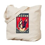 Obey the Boston Terrier! USA Tote Bag
