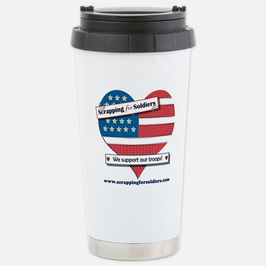 Scrapping for Soldiers Stainless Steel Travel Mug