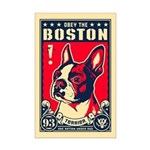 Obey the Boston! USA Mini Poster Print