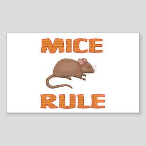 Mice Rectangle Sticker