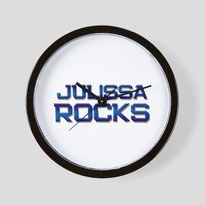 julissa rocks Wall Clock