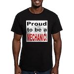 Proud Mechanic Men's Fitted T-Shirt (dark)