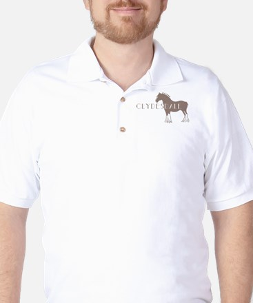 Clydesdale Horse Golf Shirt